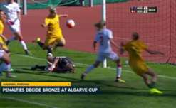 The Westfield Matildas have finished fourth at the Algarve Cup after falling to Denmark in a penalty shootout in the Bronze Medal Match in Portugal.