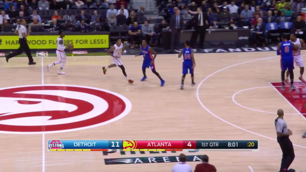 WSC: Dennis Schroder with 17 points vs the Pistons
