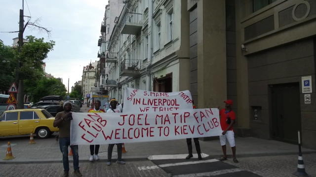 Liverpool's global fanbase greet their heroes in Kiev Thumbnail