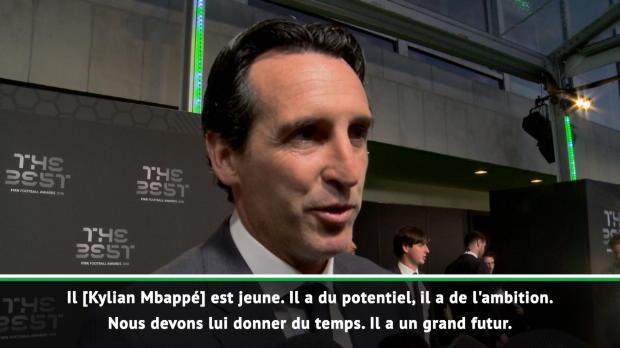 FIFA Awards - Emery - 'Donnons du temps à Mbappé et Neymar'