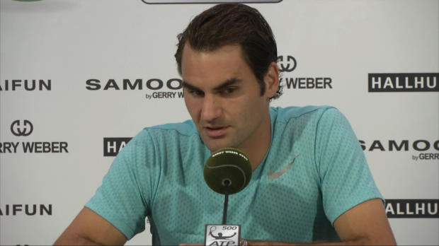"Halle: Federer: ""Mayer gut zurückgekämpft"""