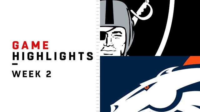 Raiders vs. Broncos highlights | Week 2