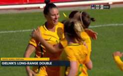 A first half double from Emily Gielnik has helped the Westfield Matildas to a thrilling 3-2 win over the Netherlands at the Algarve Cup.