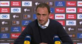 Melbourne City boss Michael Valkanis addresses the media following his side's 2-0 Elimination Final loss to Perth Glory.