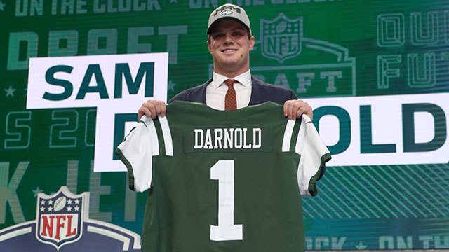 huge selection of 6912c 971ea Video: New York Jets select USC QB Sam Darnold No. 3 in the ...