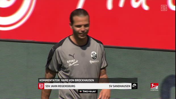 2. Bundesliga: SSV Jahn Regensburg - SV Sandhausen   DAZN Highlights