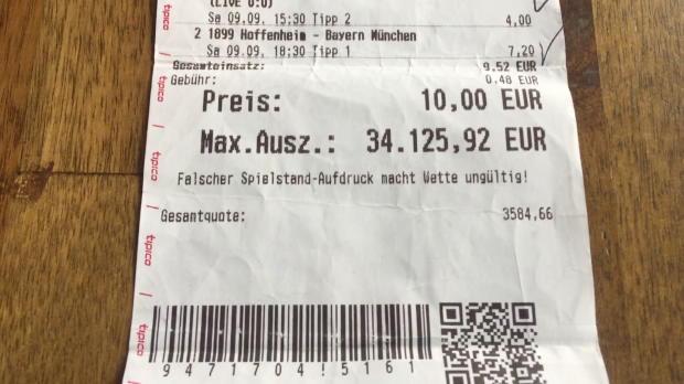 Wettkönig gewinnt 34.000 Euro dank Balljungen