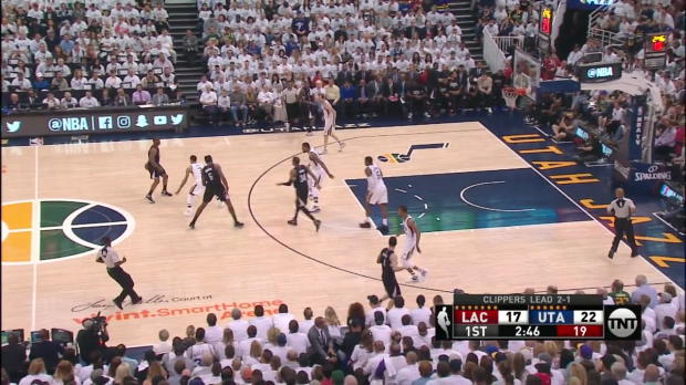 WSC: Head-to-head:More than 27 points of Chris Paul, Joe Johnson in Los Angeles Clippers vs. the Jazz, 4/23/2017