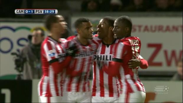 Le PSV s'impose 2-1 a Cambuur et se rapproche du titre de champion. C'est sa victoire de suite en championnat, ils sont invaincus depuis octobre.