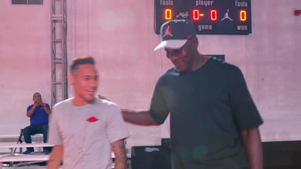Stars unter sich: Neymar trifft Air Jordan