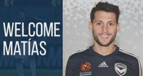 Matias Sanchez arrives as Melbourne Victory's newest signing.