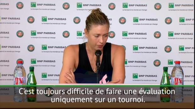 : Roland-Garros - Sharapova évalue sa saison sur terre battue