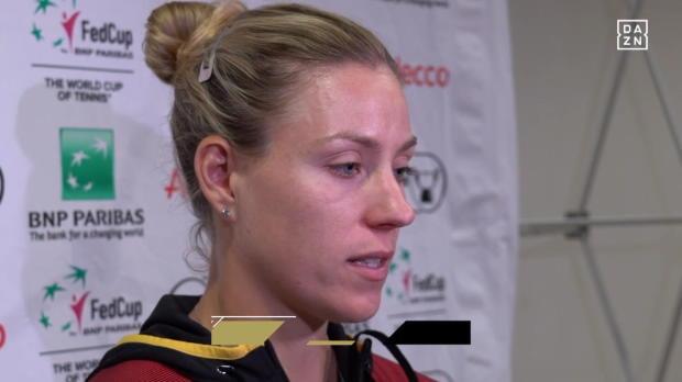 Kerber nach der Niederlage gegen Kvitova