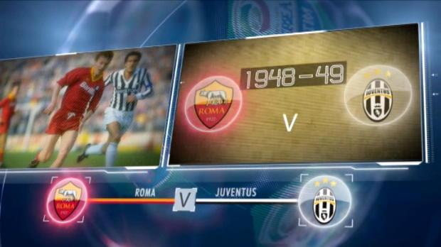 كرة قدم: الدوري الإيطالي: موقعة كرويّة بارزة: روما – يوفنتوس