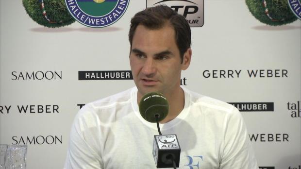 """Halle: Federer: Pleite """"macht nichts kaputt"""""""