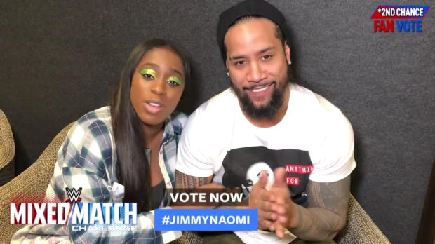 Vote #JimmyNaomi now in WWE Mixed Match Challenge's Second Chance Vote
