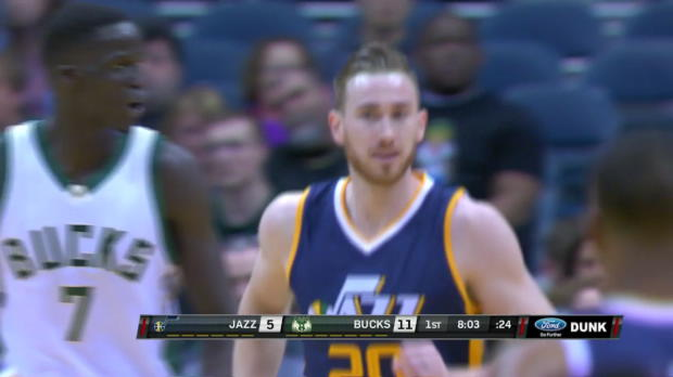 WSC: Gordon Hayward 29 points vs the Bucks