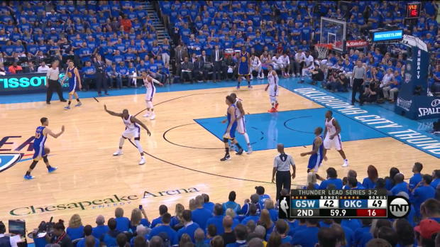WSC: Stephen Curry with 6 3-pointers against the Thunder