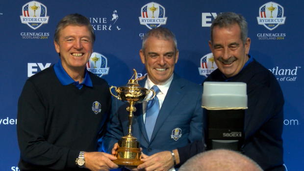 Europe Ryder Cup captain Paul McGinley has announced the experienced duo of Sam Torrance and Des Smyth as his first vice-captains.