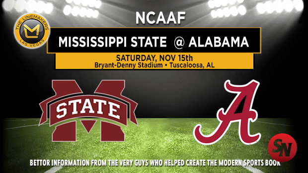 Mississippi State Bulldogs @ Alabama Crimson Tide