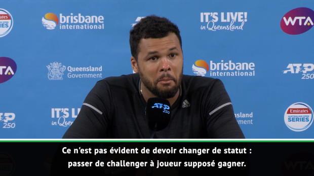 """Basket : Brisbane - Tsonga - """"Je devais être sérieux, il n'avait rien à perdre"""""""