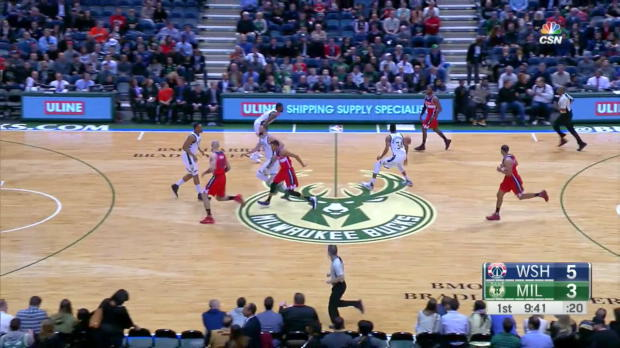 WSC: John Wall with 10 Assists against the Bucks