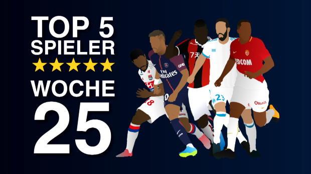 Die Top-5-Spieler des 25. Ligue-1-Spieltags
