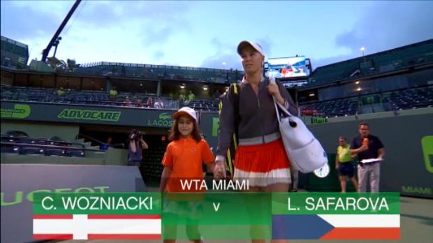 تنس: بطولة ميامي: كارولين فوزنياكي تهزم سافاروفا 6-4 6-3