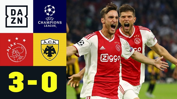 UEFA Champions League: Ajax - AEK Athen | DAZN Highlights