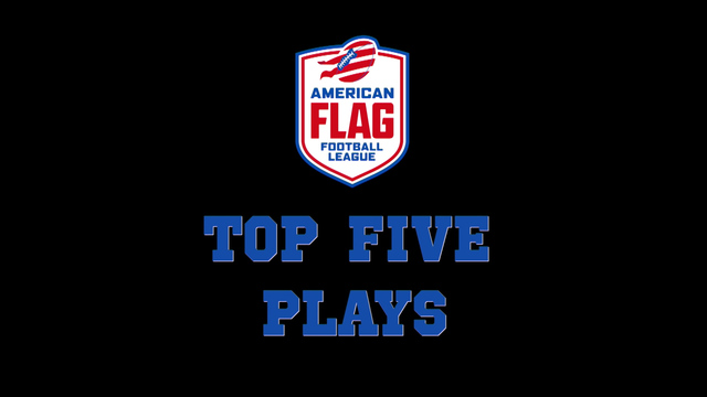 American Flag Football League Semifinal: Top 5 plays