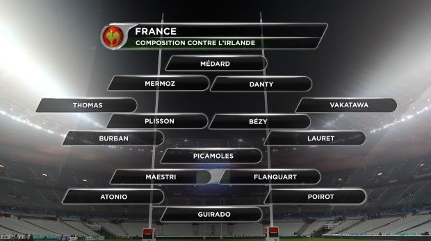 XV de France - Chouly remplace Picamoles, Thomas � l'aile contre l'Irlande