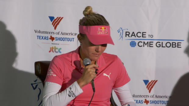 Lexi Thompson breaks down on return from major loss