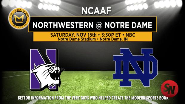 Northwestern Wildcats @ Notre Dame Fighting Irish