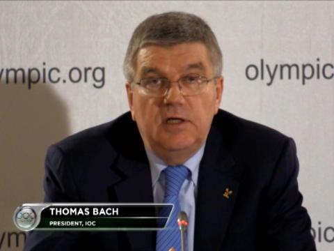اولمبياد: عام: باخ يدعو لتفعيل عقوبة الايقاف مدى الحياة