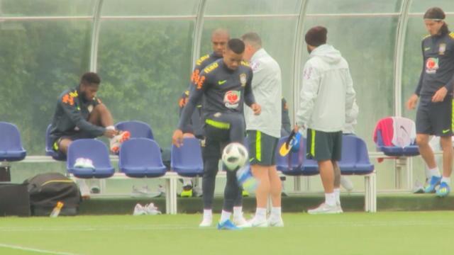 Brazil squad including Jesus and Neymar showcase skills on the training ground Thumbnail