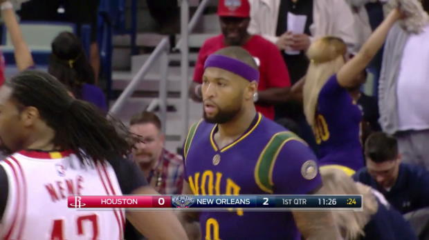 WSC: Highlights: DeMarcus Cousins (27 points) vs. the Rockets, 2/23/2017