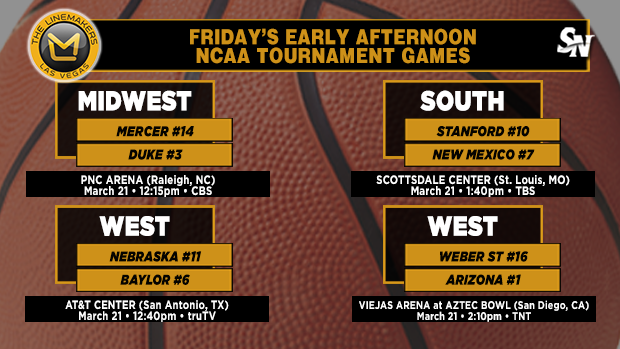Friday's early-afternoon NCAA Tournament games