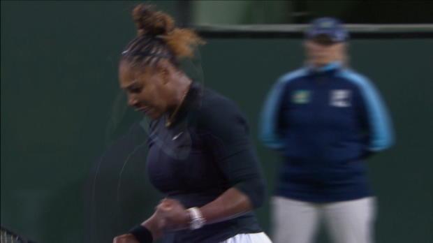 : Indian Wells - Serena Williams s'impose aux forceps face à Azarenka