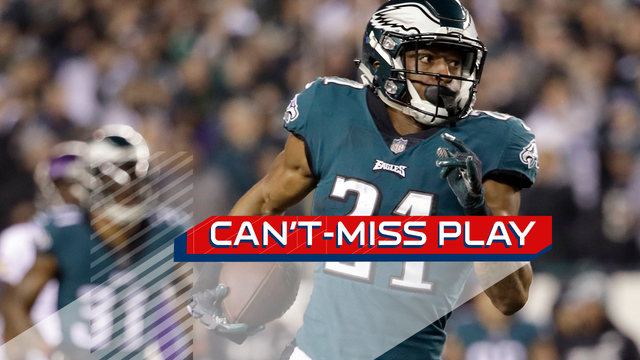 Can't-Miss Play: House call! Philadelphia Eagles cornerback Patrick Robinson's remarkable pick-six ties game