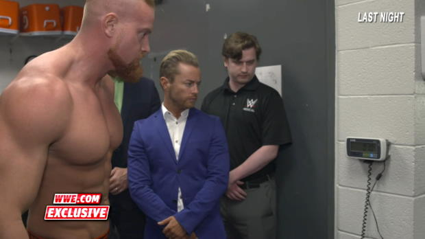 Buddy Murphy has his final weigh-in before his Cruiserweight debut: WWE.com Exclusive, Feb. 20, 2018