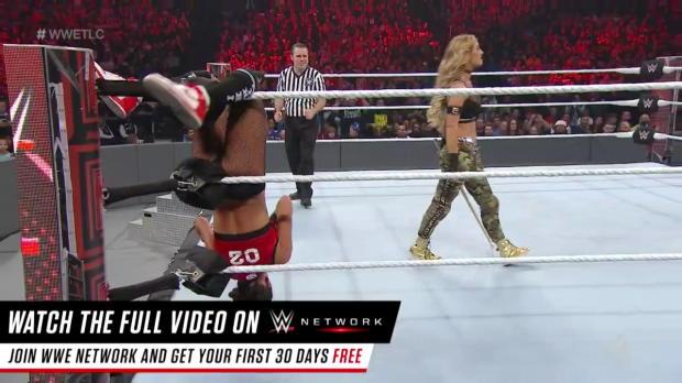 Carmella uses a kendo stick to batter Nikki Bella: WWE TLC 2016