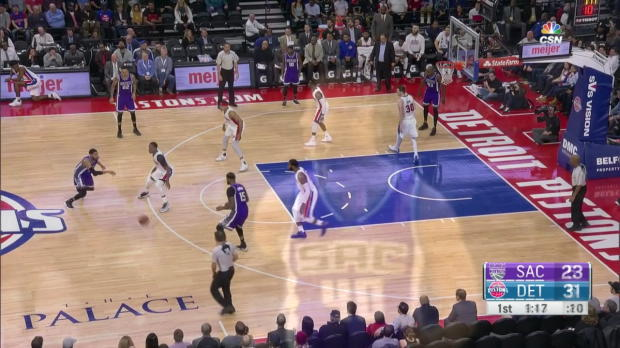WSC: Highlights: DeMarcus Cousins (22 points) vs. the Pistons, 1/23/2017