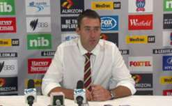 Newcastle Jets Interim coach Clayton Zane speaks to the media following his side's 2-2 draw with Western Sydney.