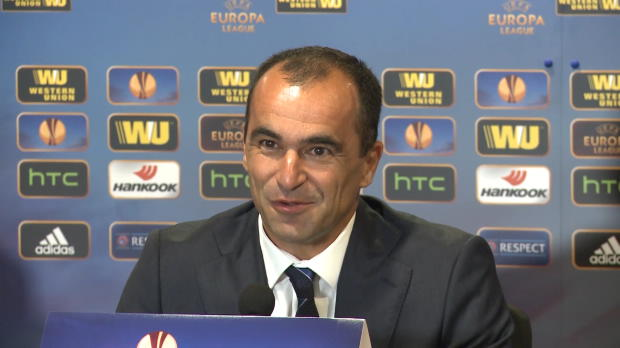 "Foot : L.Europa - Groupe H, Everton, Martinez : ""On a entendu les supporters"""