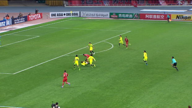 AFC Champions League - Hulk marca el tercero en 3 partidos
