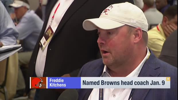 Cleveland Browns head coach Freddie Kitchens on Odell Beckham Jr.: 'His life was turned upside-down' with trade
