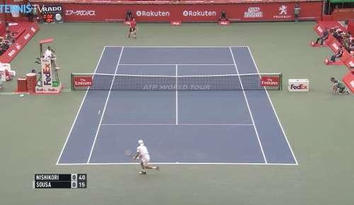 Sousa v Nishikori Highlights: ATP Tokyo R2