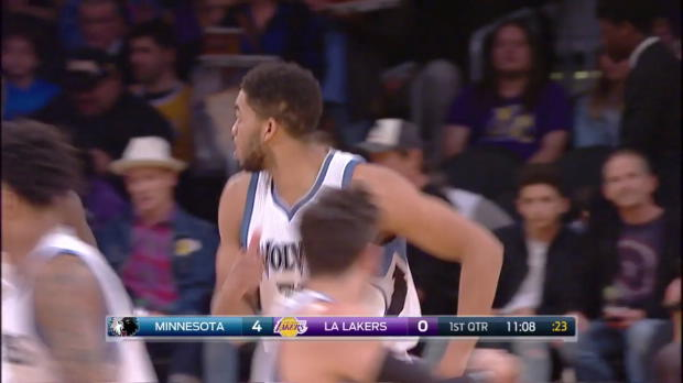 WSC: Ricky Rubio with 15 Assists against the Lakers
