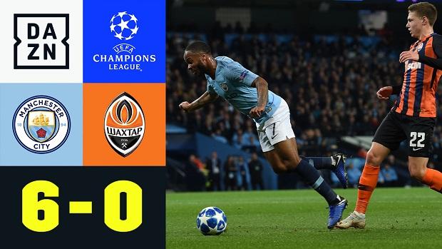 UEFA Champions League: Manchester City - Donetsk   DAZN Highlights