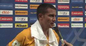 Caltex Socceroos striker Tim Cahill discusses his winner against UAE in Abu Dhabi.